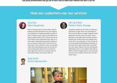 Sales Page Design – Website Maintenance Services (Fingerprint Marketing)