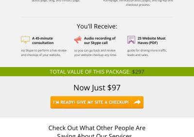 Sales Page Design – Website Roadmap Sales Page (Fingerprint Marketing)
